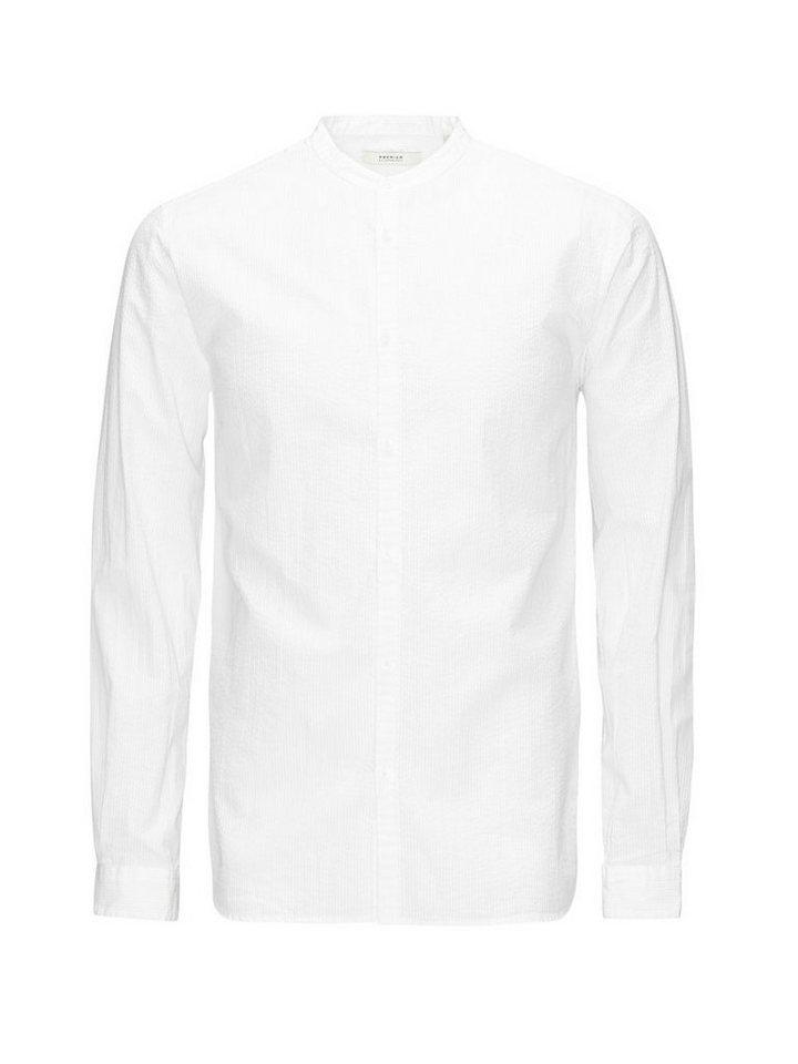 Jack & Jones Bandkragen- Langarmhemd in White