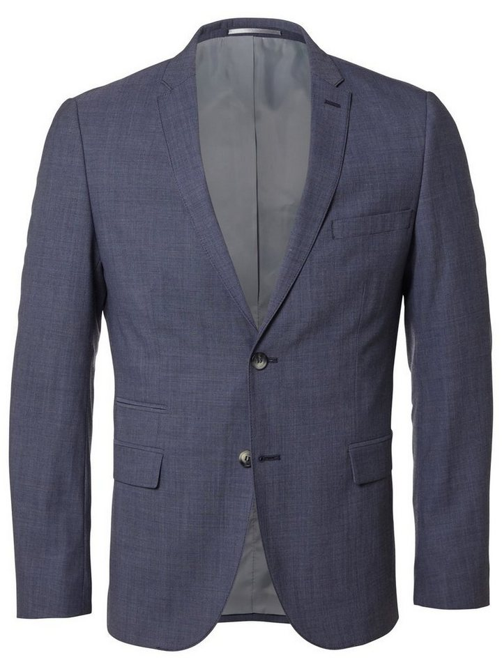 Selected Extra taillierter Blazer in Light Blue Melange