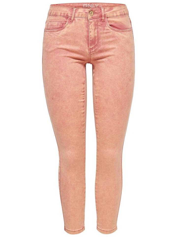 Only Royal reg ankle colour Skinny Fit Jeans in Faded Rose