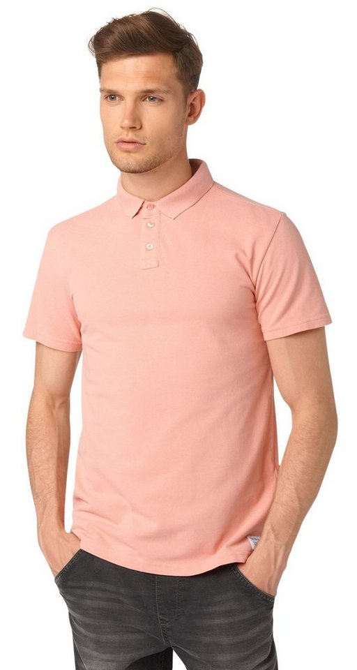TOM TAILOR DENIM Poloshirt »sportliches Polo-Shirt« in dusty salmon red