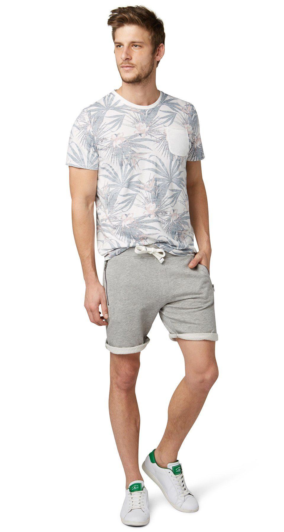 TOM TAILOR Hose »Sweat-Shorts mit Zipper-Taschen«