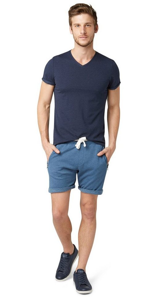 TOM TAILOR Hose »sweat shorts with zippers« in ensign blue