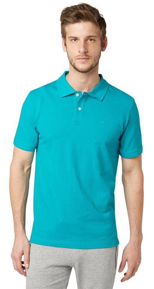 TOM TAILOR Poloshirt »klassisches Polo-Shirt« in dusty aquamarine gre