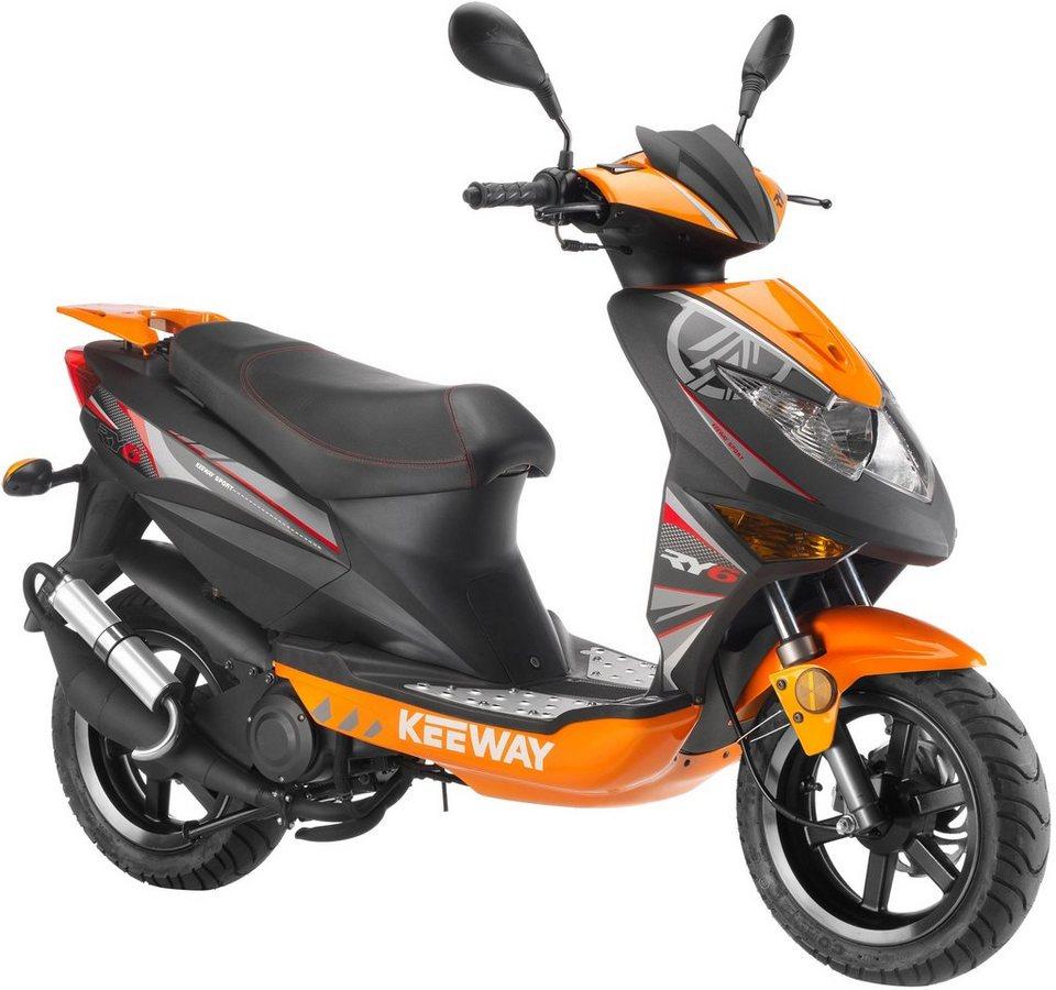 Keeway Motorroller, 50 ccm, 45 km/h, »RY6 Racing« in schwarz-orange