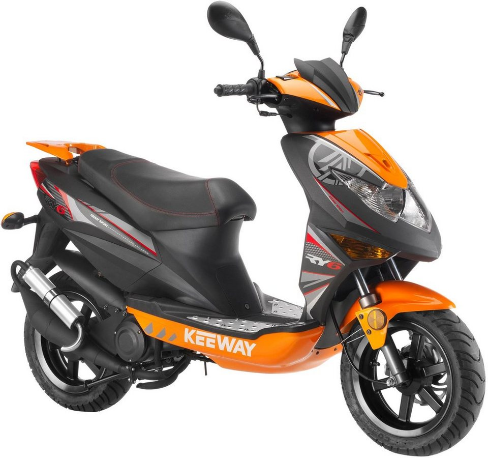 Keeway Mofaroller, 50 ccm, 25 km/h, »RY6 Racing« in schwarz-orange