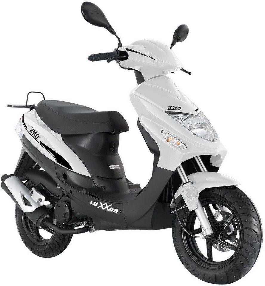 Luxxon Motorroller, 50 ccm, 45 km/h, »Uno« in weiß