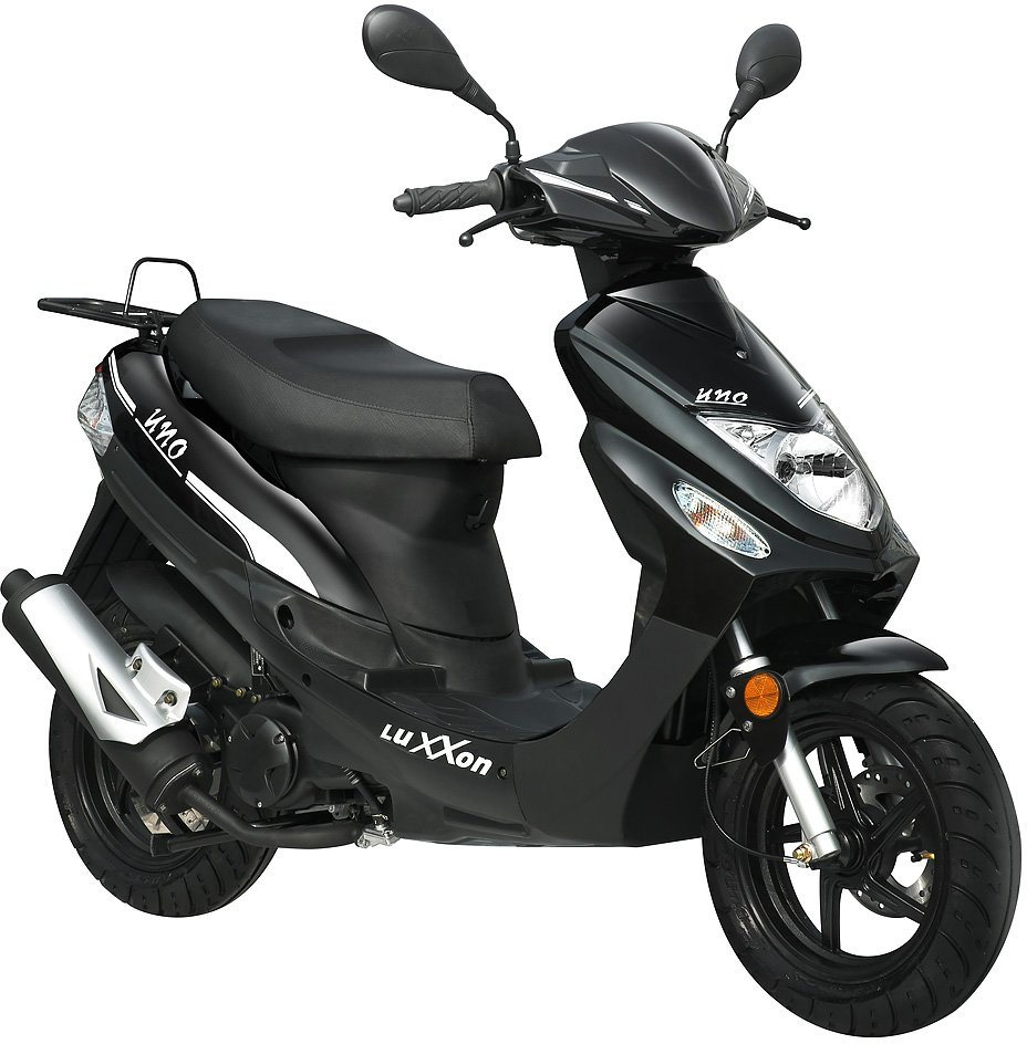 luxxon motorroller uno 50 ccm 45 km h 49 ccm 25 km h. Black Bedroom Furniture Sets. Home Design Ideas
