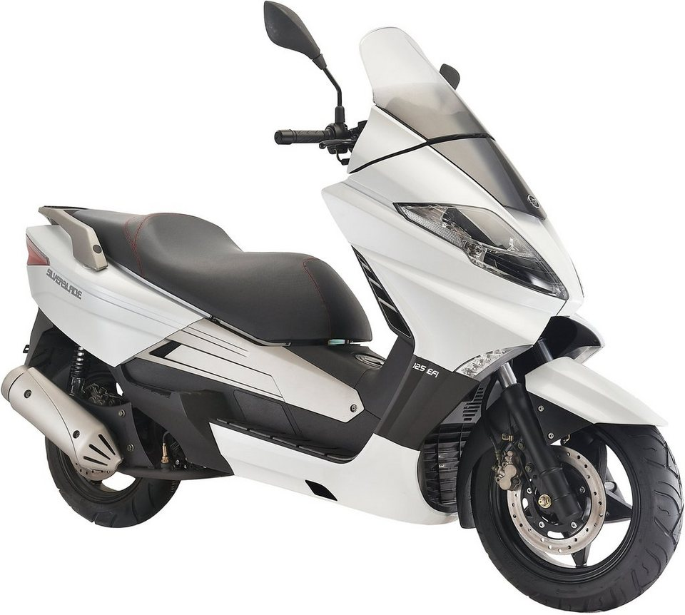keeway motorroller 125 ccm 100 km h silver blade. Black Bedroom Furniture Sets. Home Design Ideas