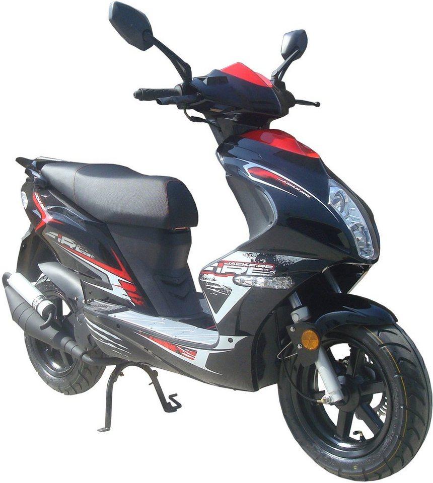 Luxxon Motorroller, 50 ccm, 45 km/h, »Jackfire« in schwarz
