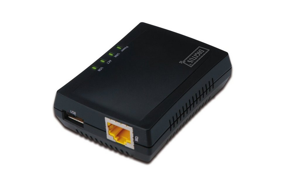 Digitus Karte & Adapter extern »1-Port USB 2.0 Multifunction Network Server«