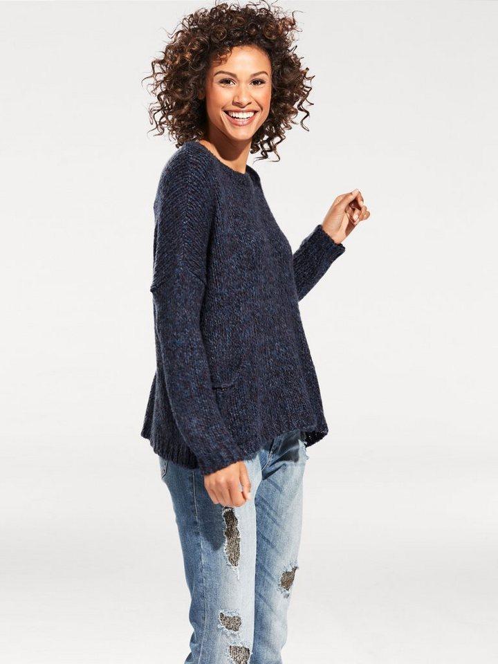Oversized-Pullover in marine