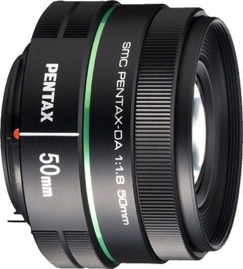 PENTAX Premium smc DA 50mm Festbrennweite Objektiv in schwarz