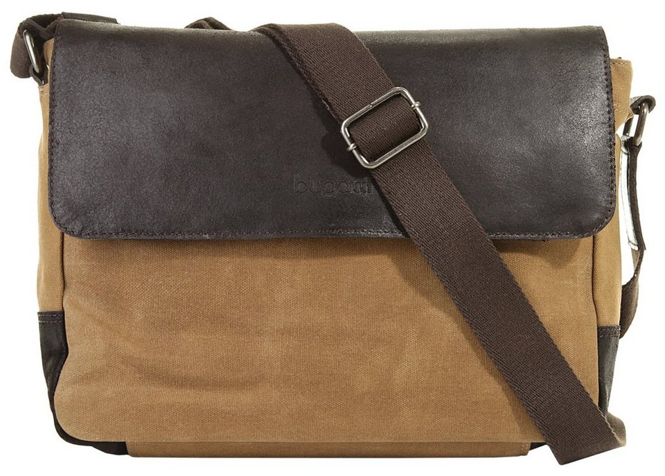 Bugatti Messengerbag in camel