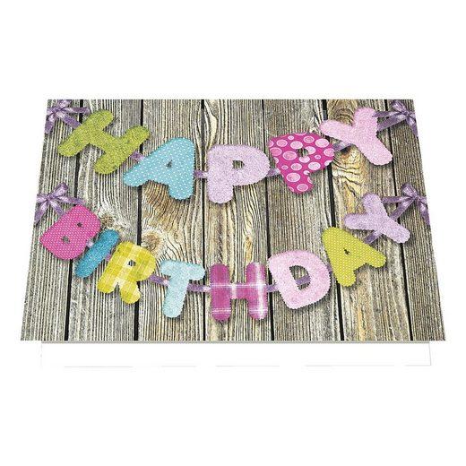 LUMA KARTENEDITION Grußkarten mit Umschlägen »Happy Birthday«