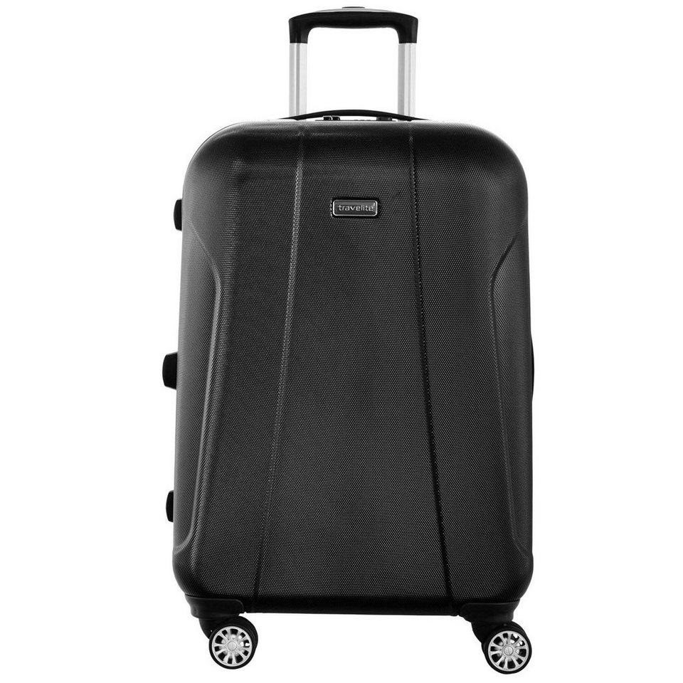 Travelite Elbe Two 4-Rollen Trolley 70 cm in schwarz