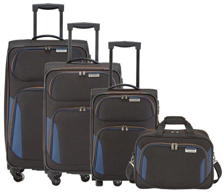 travelite Trolley Set mit 2/4 Rollen und Boardcase, »Orbit« (4tlg.) in schwarz