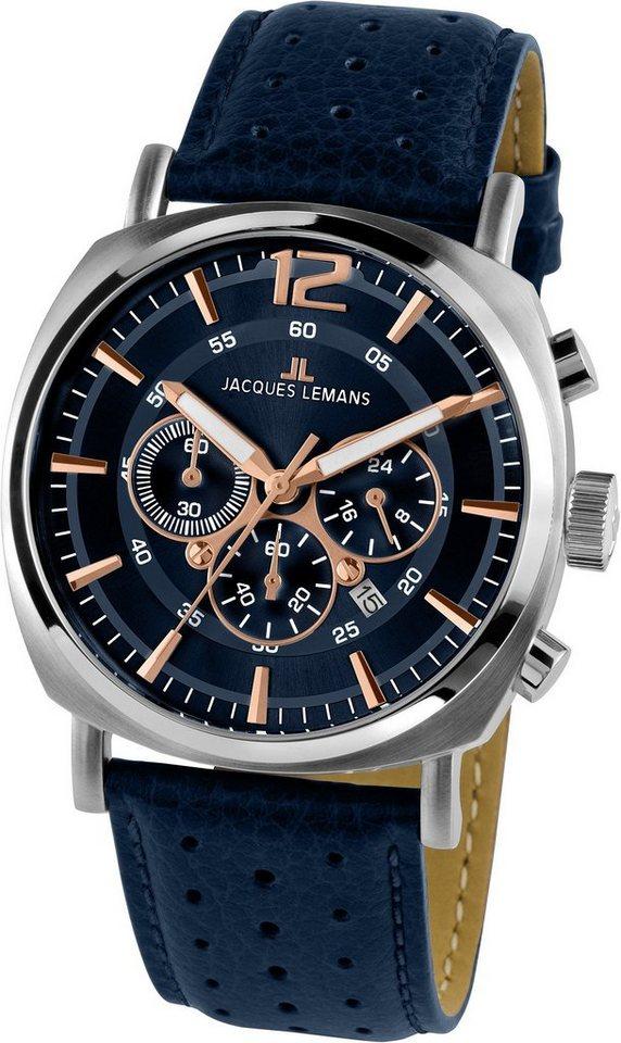 Jacques Lemans Sports Chronograph »Lugano, 1-1645I« in blau