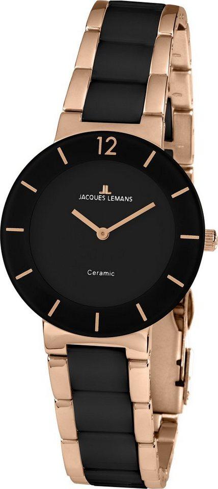 Jacques Lemans Classic Armbanduhr, Messeaktion, »41-3C« in schwarz-roségoldfarben