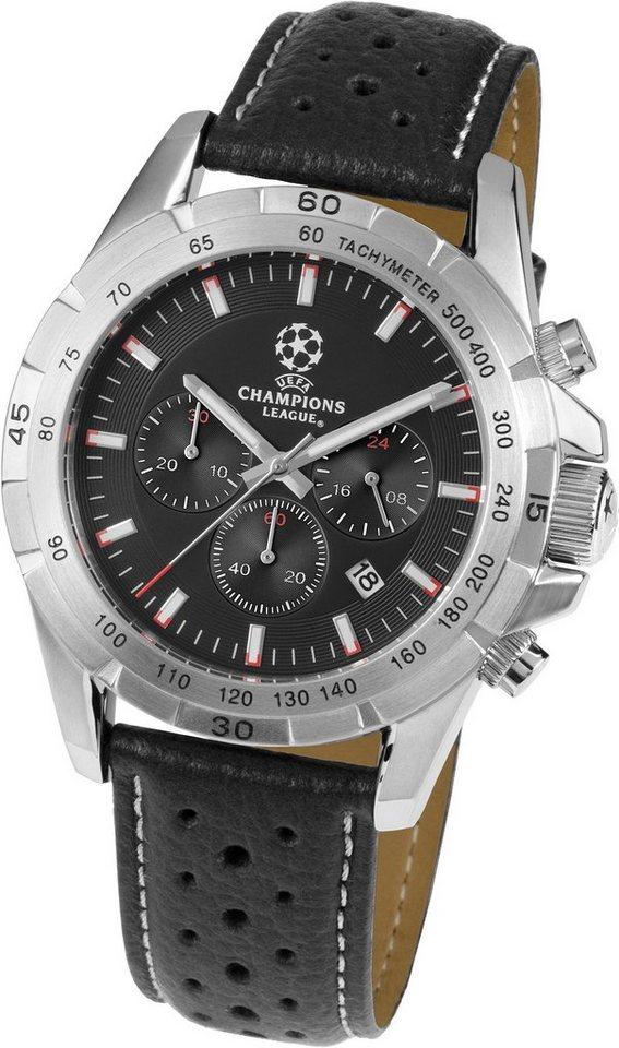 Jacques Lemans Sports Chronograph »UEFA CHAMPIONS LEAGUE, U-59A« in schwarz