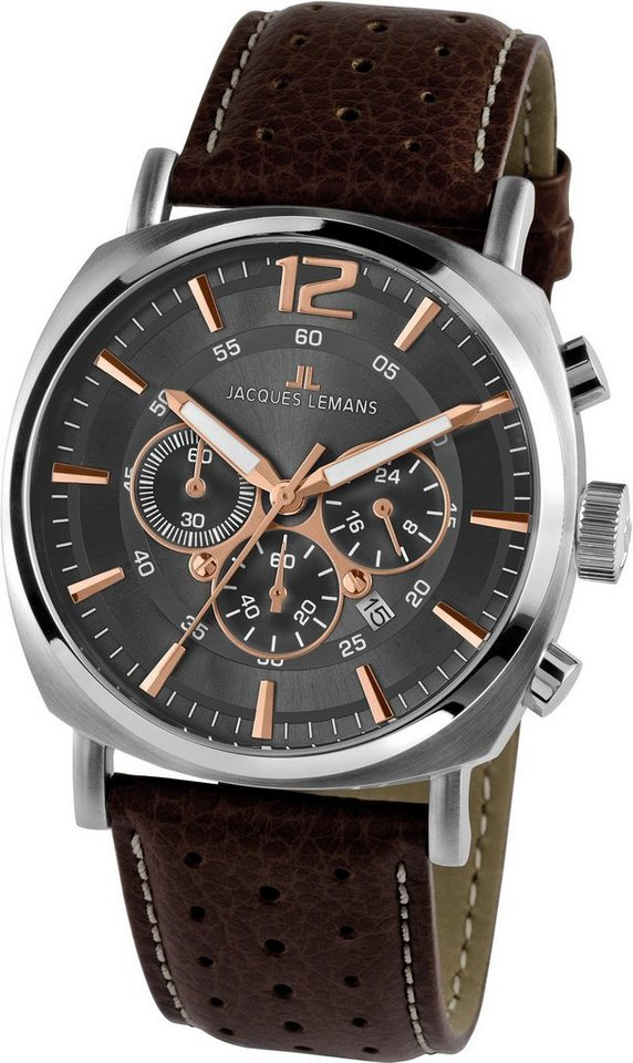 Jacques Lemans Sports Chronograph »Lugano, 1-1645H« in braun