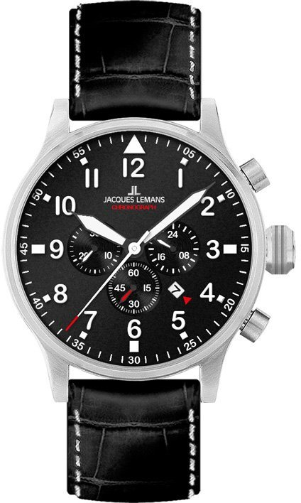 Jacques Lemans Sports Chronograph »1-1914A« in schwarz