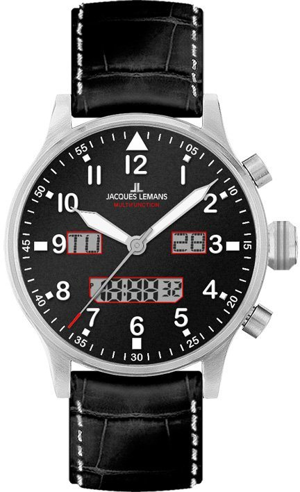 Jacques Lemans Sports Quarzuhr »1-1919A« in schwarz