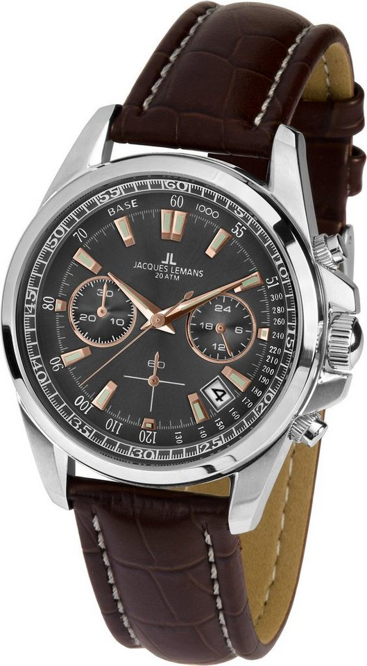 Jacques Lemans Sports Chronograph »Liverpool, 1-1830C« in braun