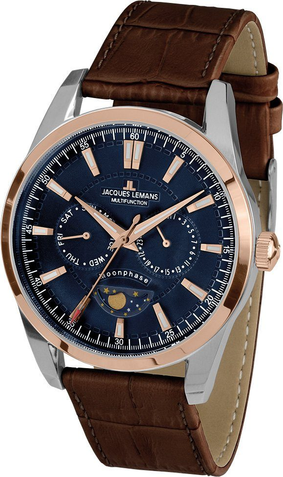 Jacques Lemans Sports Multifunktionsuhr »Liverpool Moonphase, 1-1901D«
