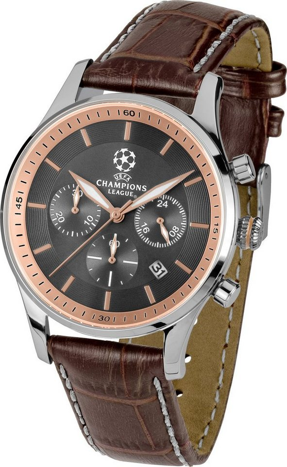Jacques Lemans Sports Chronograph, »UEFA CHAMPIONS LEAGUE, U-58C« in braun