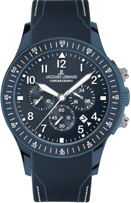 Jacques Lemans Sports Chronograph »1-1923A« in blau