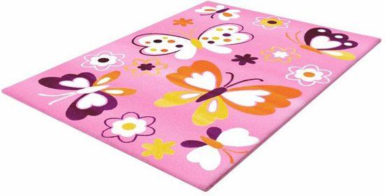 Kinderteppich »Bambino 2102«, Sanat, rechteckig, Höhe 11 mm, Schmetterlinge, Kurzflor