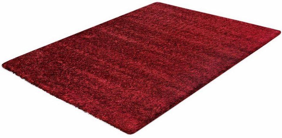 Hochflor-Teppich, Impression, »Sense«, Höhe 50 mm, gewebt in rot