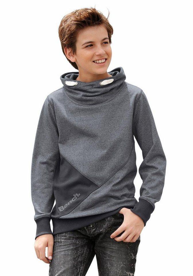 Bench Sweatshirt Mit Schalkragen in anthrazit-meliert