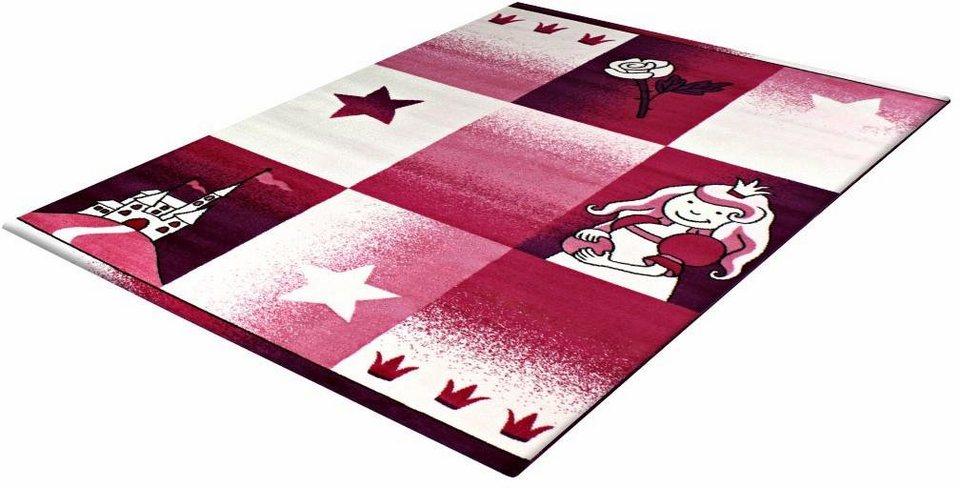 Kinder-Teppich, Impression, »Bambino 2101«, gewebt in pink