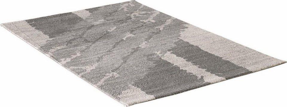 Teppich, Impression, »Luna 1704«, gewebt in grau