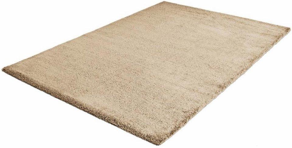 Hochflor-Teppich, Impression, »Silky Touch«, Höhe 30 mm, gewebt in beige