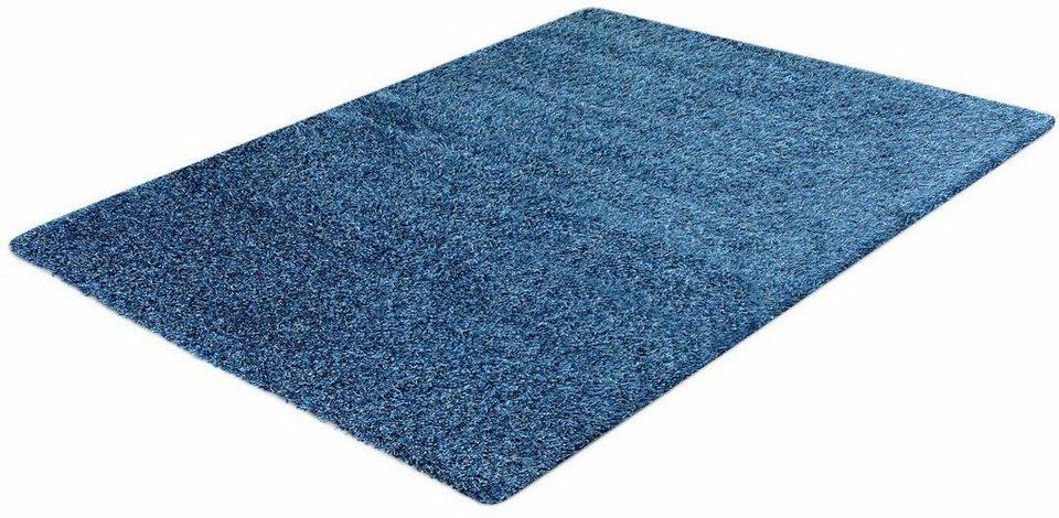 Hochflor-Teppich, Impression, »Sense«, Höhe 50 mm, gewebt in blau