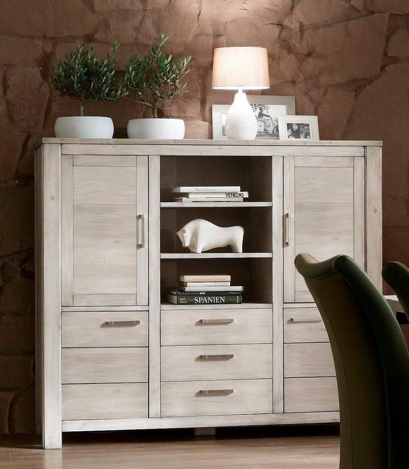 favorit highboard lucca 161 cm breite mit holzt ren online kaufen otto. Black Bedroom Furniture Sets. Home Design Ideas