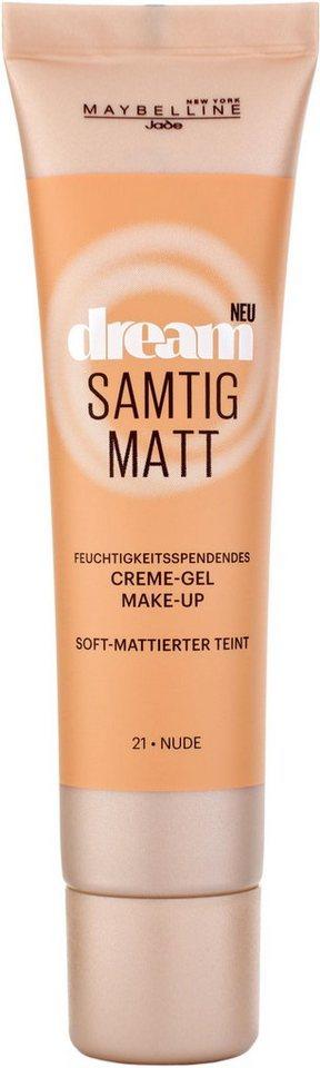 Maybelline New York, »Dream Samtig Matt«, Creme-Gel Make-up in 21 Nude