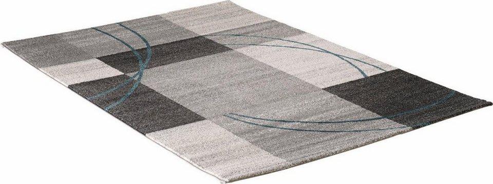 Teppich, Impression, »Luna 1706«, gewebt in grau