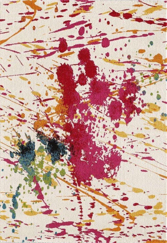 Teppich, Impression, »Vintage 1601«, gewebt in weiss bunt