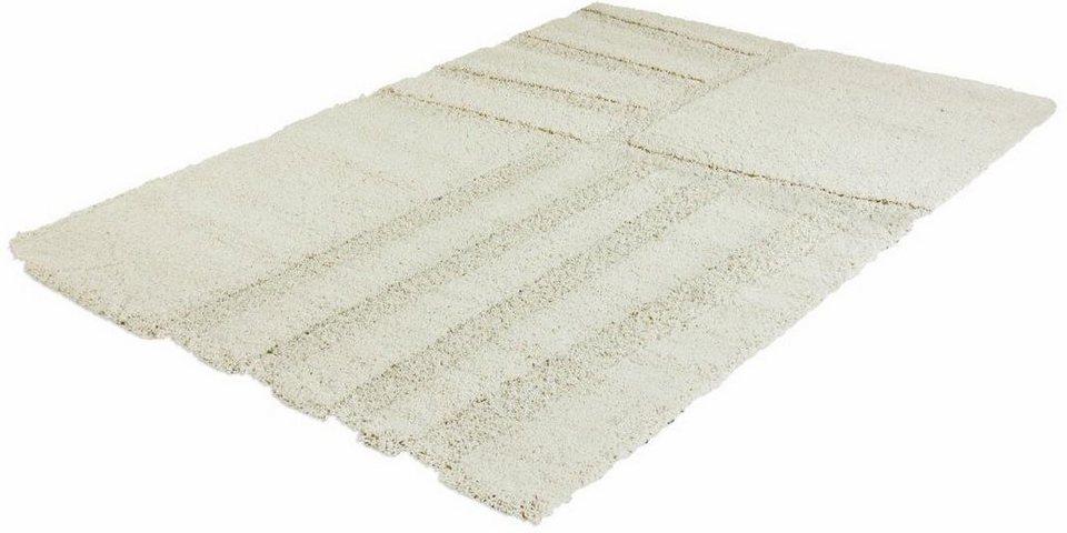 Hochflor-Teppich, Impression, »Hunter 1901«, Höhe 50 mm, gewebt in creme