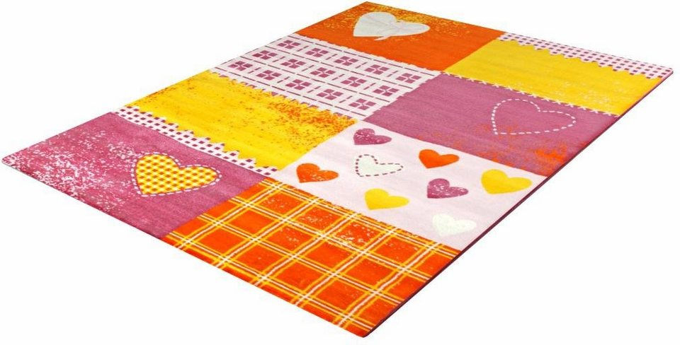 Kinder-Teppich, Impression, »Bambino 2105«, gewebt in pink orange