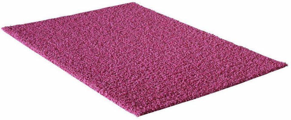 Hochflor-Teppich, Impression, »LOCA«, Höhe 50 mm, gewebt in pink