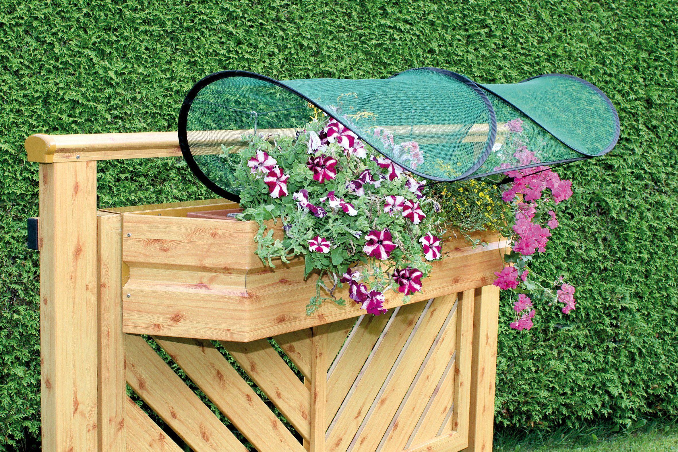Balkonblumenschutz , 100 cm lang, grün