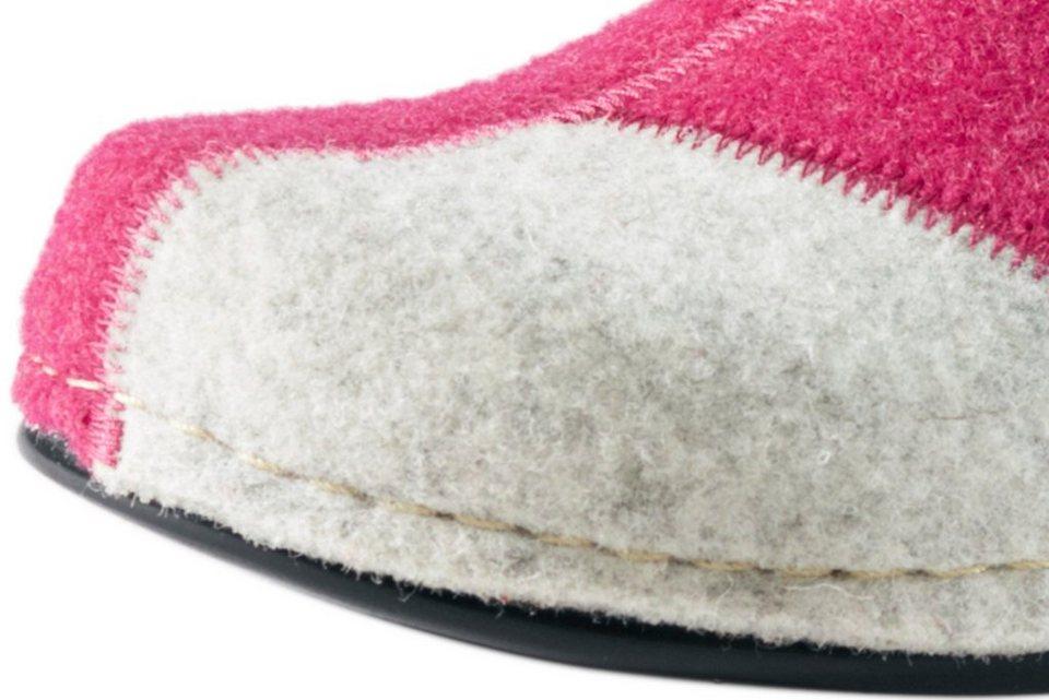 Hausschuhe in pink/grau