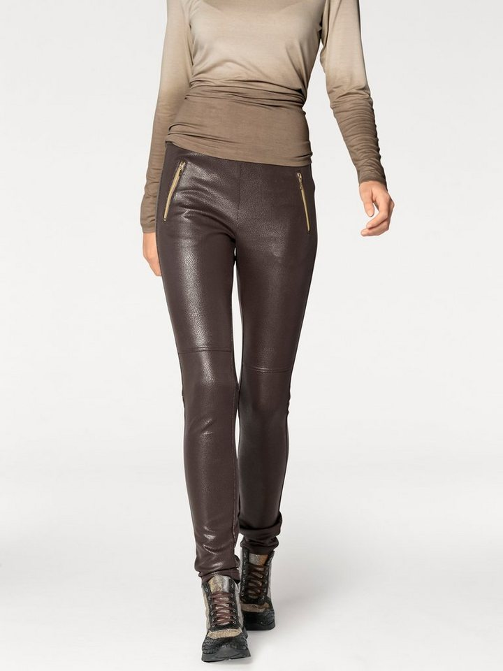 Jeggings in taupe