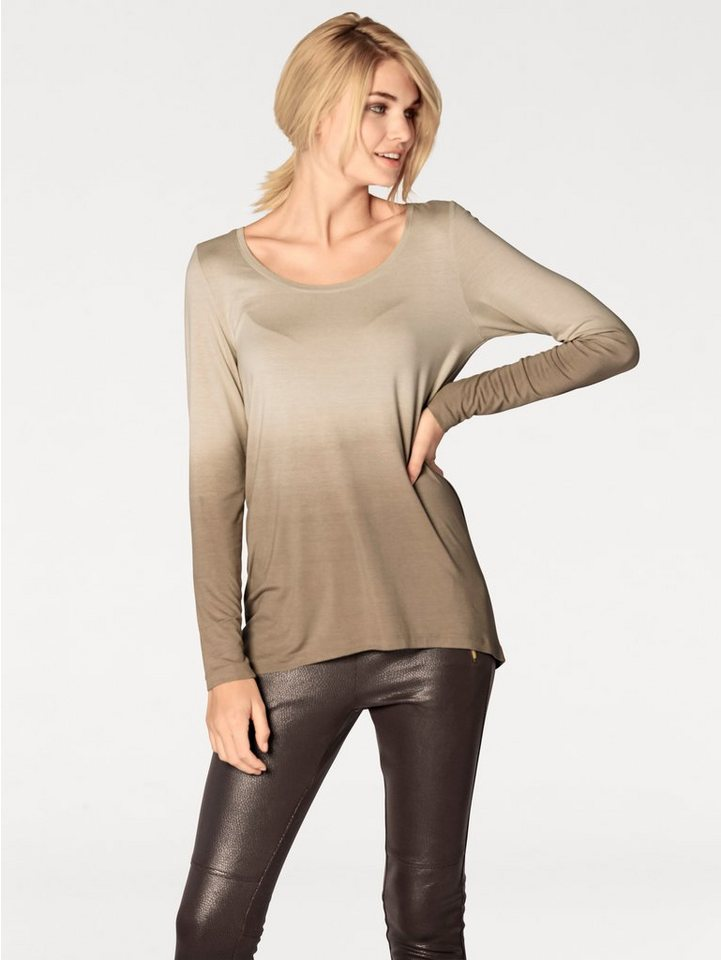 Longshirt in taupe