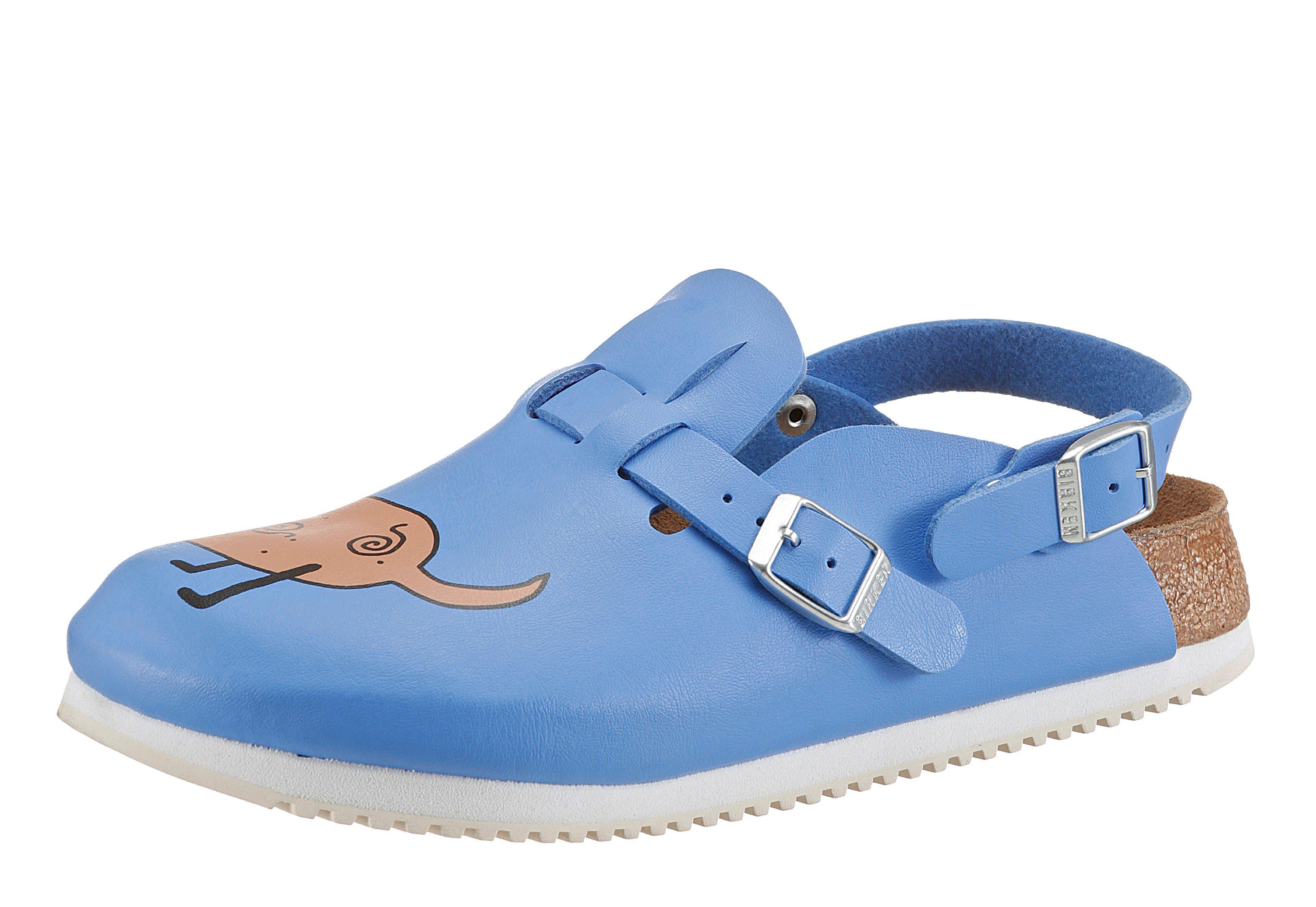 Birkenstock KAY SL Clog, umklappbarer und verstellbarer Fersenriemen online kaufen  blau-bunt