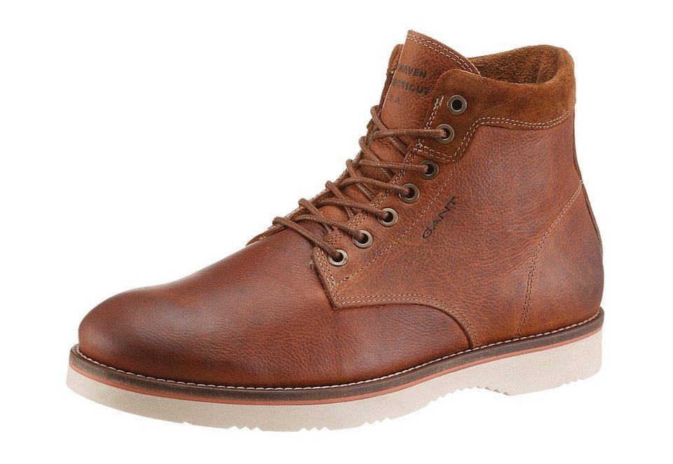 Gant Footwear »Huck« Schnürboots mit Warmfutter in cognac-used